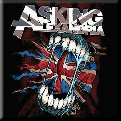 ASKING ALEXANDRIA Flag Eater  Fridge Magnet 3  Square Metal Gift Free UK P&P • 1.99£