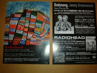 RADIOHEAD 2004 Tour ORIGINAL JAPANESE POSTER Size: 10x7 Inches • 9.95£
