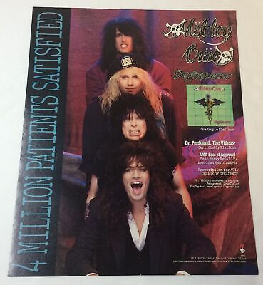 1991 Music Industry Trade Ad Page ~ MOTLEY CRUE ~ Dr Feelgood • 15.59£