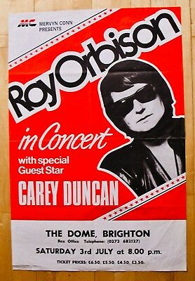 ROY ORBISON-Rare  The Dome  Brighton UK Concert Poster-Travelling Wilburys • 555.62£