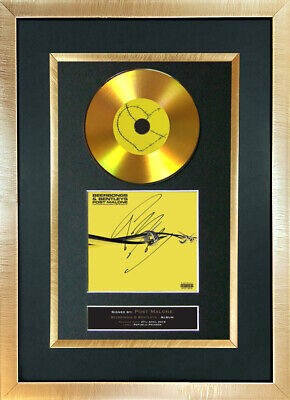 #194 POST MALONE Beerbongs & Bentleys Cd Signed Reproduction Autograph Mounted • 8.99£