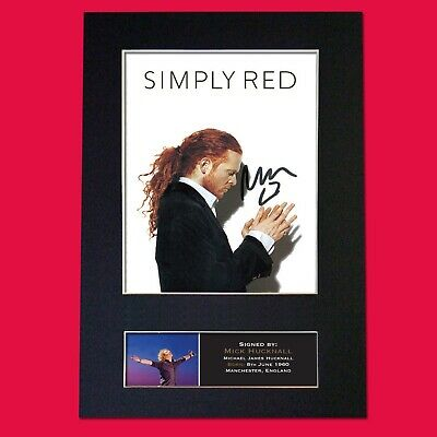 SIMPLY RED Mick Hucknall Signed Reproduction Autograph Mounted Photo Print 823 • 5.99£