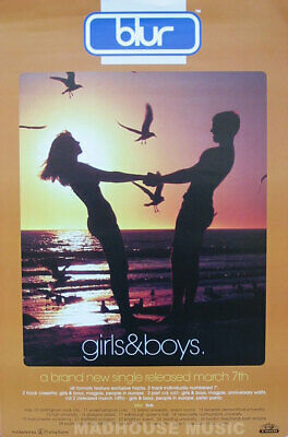 BLUR Poster Girls & Boys UK PROMO Only In-Store Original Rare Brit Pop MINT- • 69.95£