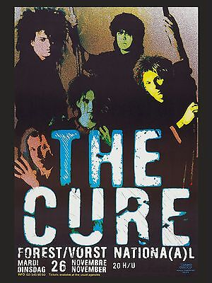 The Cure Belgian 16  X 12  Photo Repro Concert Poster No 1 • 5.50£