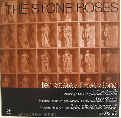 STONE ROSES Display Poster Ten Storey Love Song UK PROMO ONLY 7  Size • 8.95£