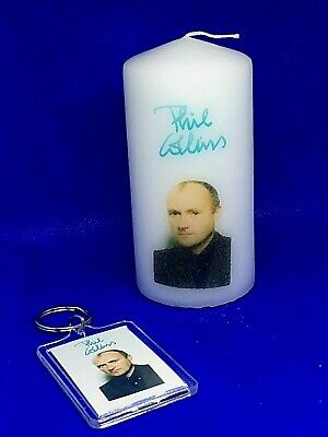 Phil Collins Candle With FREE Matching  Key Ring   • 4.99£