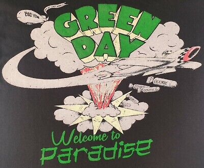 Green Day Official T Shirt Welcome To Paradise Pop Punk Rock Size Small Worn • 9£
