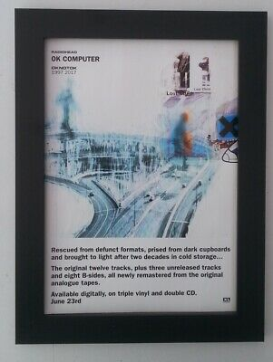 RADIOHEAD*OK Computer*ORIGINAL*A4*ADVERT*FRAMED*FAST WORLD SHIP • 29.95£