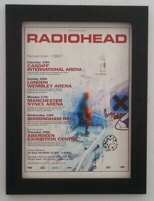 RADIOHEAD*November Tour*1997*ORIGINAL*A4*ADVERT*FRAMED*FAST WORLD SHIP • 29.95£
