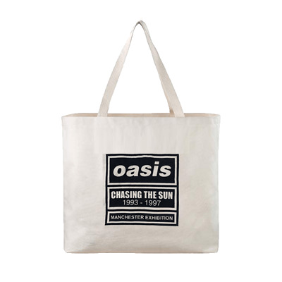 Oasis ~ Chasing The Sun 1993 - 1997 ~ Manchester Exhibition 2016 Tote Bag *NEW* • 8.75£