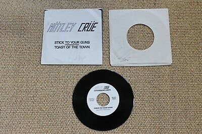 Motley Crue Stick To Your Guns / Toast Of The Town Vince Neil Signed The Dirt 45 • 394.91£