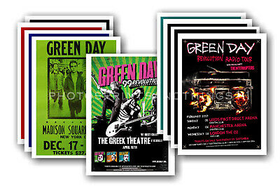 GREEN DAY - Promotional Posters - Collection Of 10 Postcards # 2 • 5.99£