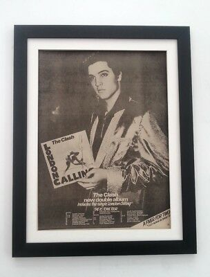The CLASH*London Calling Tour*1979*ORIGINAL*POSTER*AD*FRAMED*FAST WORLD SHIP • 79.95£