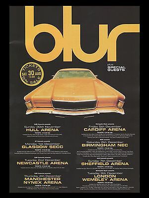 BLUR UK Concert Tour 16  X 12  Photo Repro Promo  Poster • 5.50£