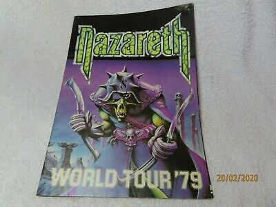 NAZARETH World Tour 79 Programme    ~* • 18£