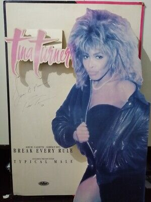 TINA TUNER Signed AUTOGRAPH Stand Up Banner For Live Aid BREAK EVERY RULE!  • 250£