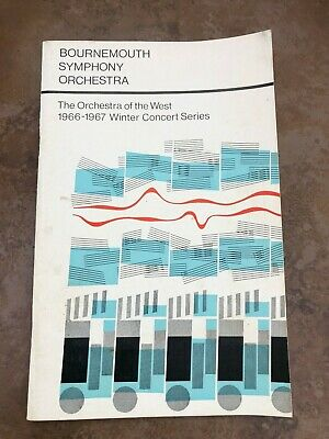 Bournemouth Symphony Orchestra .1966 - 1967 Concert Series • 19.99£