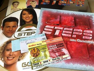 Steps Set Of 4 Tour Programmes + Original Concert Tickets • 59.95£