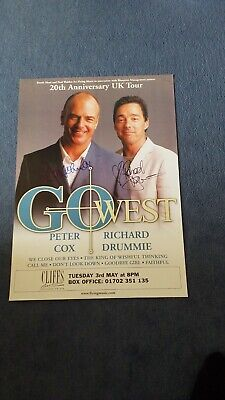 Go West Signed Poster   • 35£