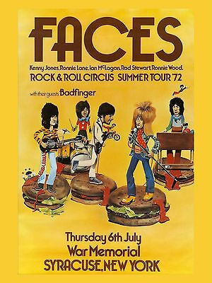 The Faces New York 1972 16  X 12  Photo Repro Concert Poster • 5.50£