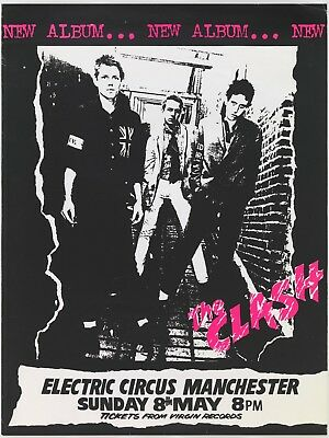 Clash Manchester Electric Circus 16  X 12  Photo Repro Concert Poster • 5.50£