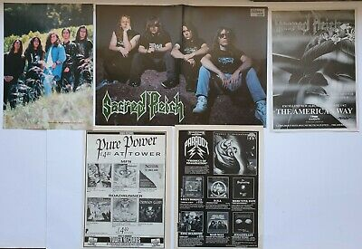 Sacred Reich Vintage Original Centerfold Poster & Adverts Thrash Heavy Metal  • 9.99£