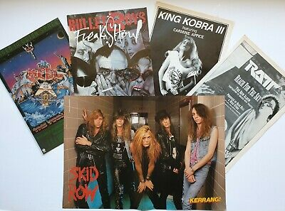 Skid Row Ratt Glam Heavy Metal Vintage Original Adverts Poster Cuttings Pin Up • 9.99£