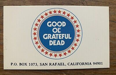 Vtg 1980s GRATEFUL DEAD Business Card GOOD OL GRATEFUL DEAD Original • 7.41£