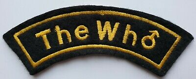 The Who Vintage Original Embroidered Shoulder Patch Mods Scooter Mod Rock  • 6.99£