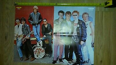 Sex Pistols The Damned RARE Swedish Poster A2 • 30£