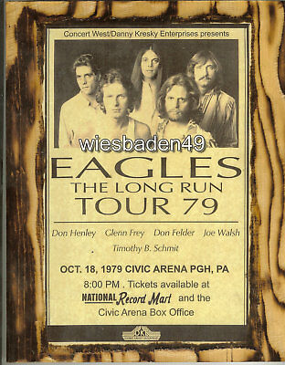 The Eagles Concert Poster Print A4 Size • 3.49£