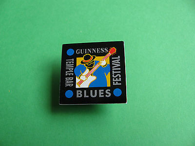 Guinness Pin Badge. VGC. Unused. Temple Bar Blues Festival. • 2.75£