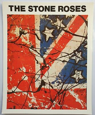 THE STONE ROSES VINTAGE 25cm X 20.2cm GLOSSY PHOTO CARD INDIE ROCK IAN BROWN  • 12£