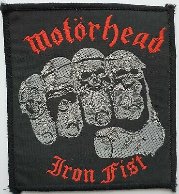 MOTORHEAD VINTAGE ORIGINAL IRON FIST WOVEN PATCH HEAVY METAL LEMMY KILMISTER 80s • 35£