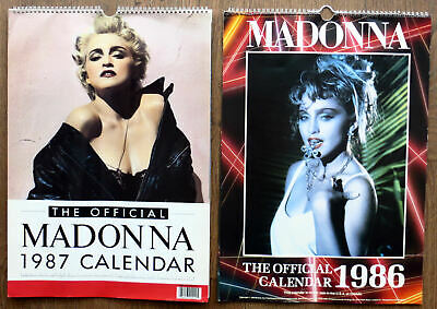 Pair Of Madonna Calendars 1986 & 1987 In Good Condition • 49.99£