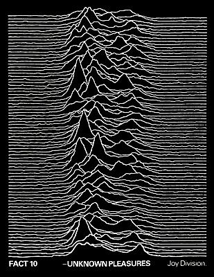 JOY DIVISION Rare 1979 UNKNOWN PLEASURES UK PROMO POSTER From Manager's Archive • 4,738.17£
