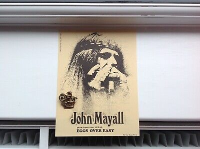 John Mayall + 'Eggs Over Easy' UK Tour 1971 Flyer.    Charity Lincolnshire House • 4.99£