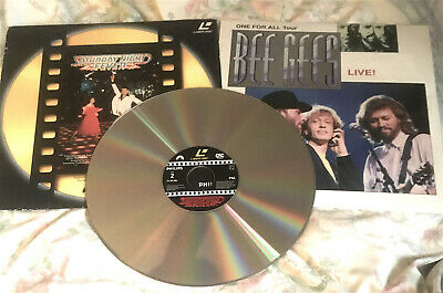TWO LASER DISCS BEE GEES :   ONE FOR ALL TOUR And SATURDAY NIGHT FEVER  • 25.99£
