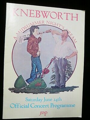 Original Programme Knebworth Festival 1978 - Genesis, Devo, Tom Petty, Starship, • 13£