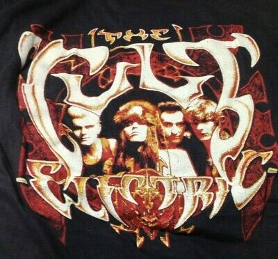 Goth The Cult Electric Vintage 1980s T SHIRT UNWORN Single Stitch Small S • 4.99£
