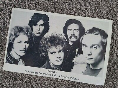 Family - Rare Promo Photocard With Band Details 1960's   Roger Chapman  • 10£