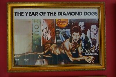 DAVID BOWIE  Diamond Dogs ORIGINAL UK  PROMOTIONAL POSTER FRAMED • 750£