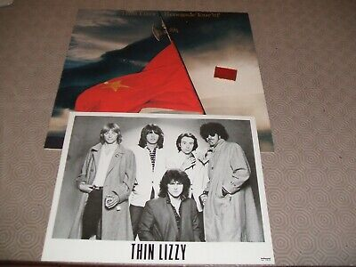 Thin Lizzy Renegade 1981 Tour Package,T-Shirt/Programme Badge/B/W Group Photo. • 14.99£