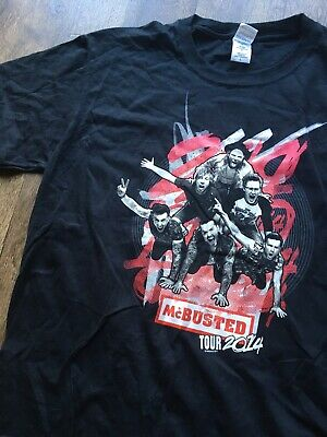 McBusted Tshirt. Rare Tour 2014 OFFICIAL MERCH. Front/back Print. Black Tee.  • 8£