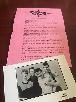 The Polecats Press Photograph + Bio/ Promo Sheets ROCKABILLY ROCK 1981 • 10.50£