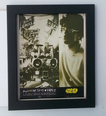 PRINCE*Sign Of The Times*1987*ORIGINAL*A4*ADVERT*QUALITY*FRAMED*FAST WORLD SHIP • 29.95£