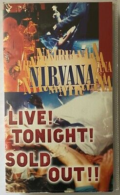 Nirvana - Live Tonight! Sold Out! - Vhs Video Tape • 10£