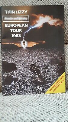 Thin Lizzy Thunder And Lightning Tour Programme 1983 Including Pull Out Poster • 16.50£