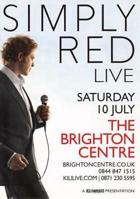Simply Red 'LIVE' 2010 UK Brighton Concert A5 Flyer - New • 0.99£