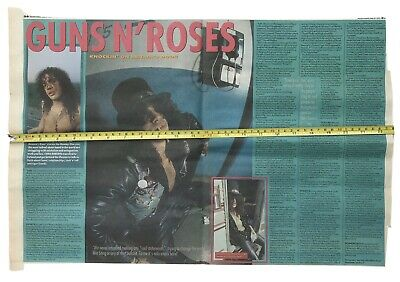 Guns N'Roses Slash Original Poster/Article 1992 • 7.11£